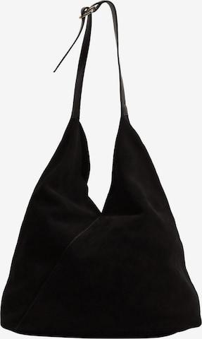 MANGO Torba na ramię 'Trian' w kolorze czarny