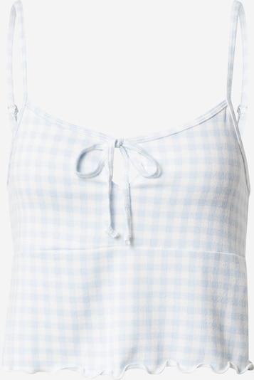 HOLLISTER Pajama shirt in Light blue / White, Item view