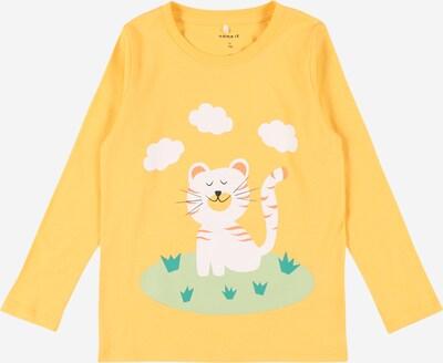 NAME IT Shirt 'DIRGA' in gelb / pastellgrün / pfirsich / schwarz / weiß, Produktansicht