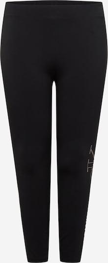 Leggings Calvin Klein Jeans Curve pe roz pastel / negru / alb, Vizualizare produs