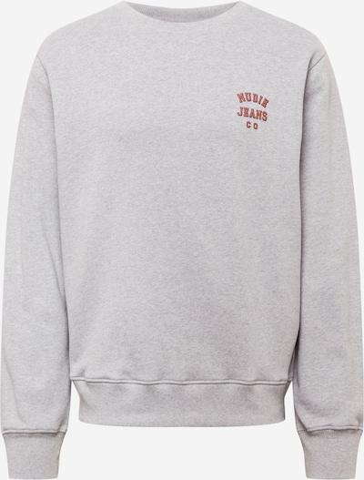 Nudie Jeans Co Sweatshirt 'Frasse' in Grey / Pastel red, Item view