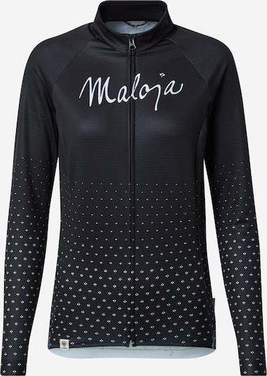 Maloja Sportjacke 'Haslmaus' in schwarz / weiß, Produktansicht