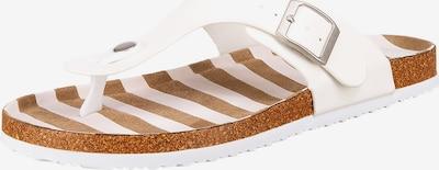 Inselhauptstadt T-Bar Sandals in Brown / White, Item view