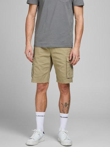 Pantalon cargo 'Zack' JACK & JONES en beige