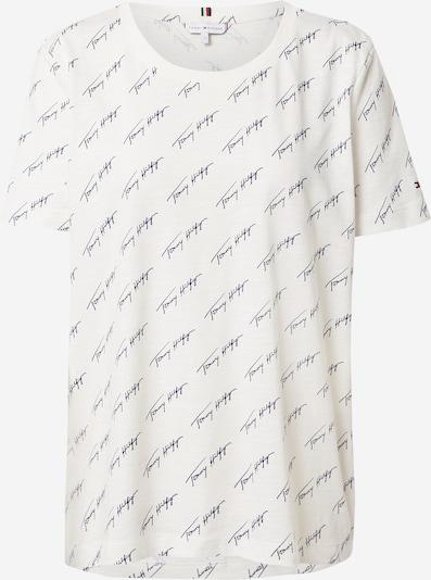 TOMMY HILFIGER T-shirt 'TOMMY HILFIGER X ABOUT YOU AOP SCRIPT PRINT T-SHIRT' en beige / bleu marine, Vue avec produit