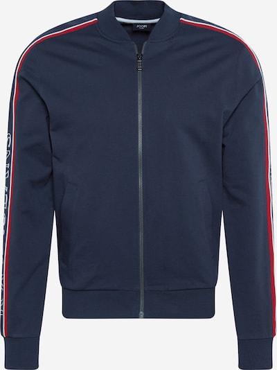 JOOP! Jeans Sweatvest 'Sheldon' in de kleur Navy / Rood / Wit, Productweergave