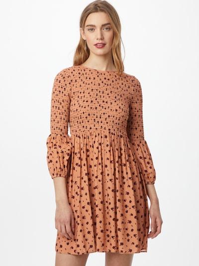 GLAMOROUS Kleid in apricot / merlot / schwarz, Modelansicht