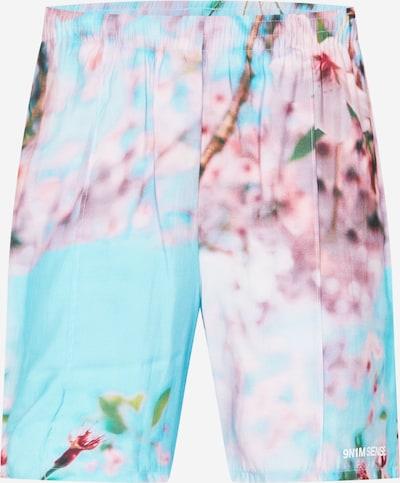 9N1M SENSE Pants in Light blue / Green / Light pink, Item view