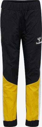 Hummel Hose in gelb / schwarz / weiß, Produktansicht