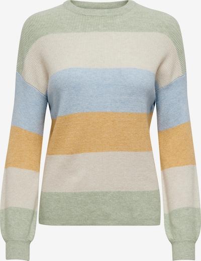 ONLY Pullover in beige / blau / braun / pastellgrün, Produktansicht