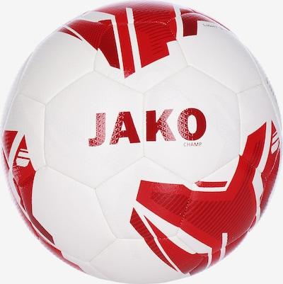 JAKO Fußball in blutrot / feuerrot / hellrot / dunkelrot / naturweiß, Produktansicht