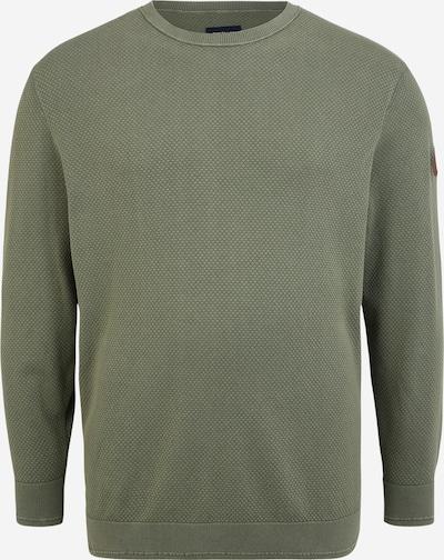 TOM TAILOR Men + Pullover in braun / khaki / schwarz, Produktansicht