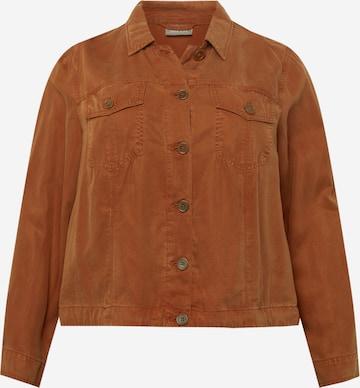 SAMOON Between-Season Jacket in Brown
