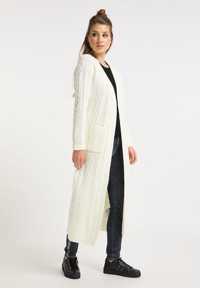 myMo ROCKS Strickmantel in weiß, Modelansicht