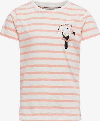 KIDS ONLY Shirt 'KITA' in lachs / schwarz / weiß, Produktansicht