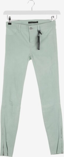 J Brand Lederhose in XS in pastellgrün, Produktansicht