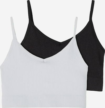 NAME IT Bralette in schwarz / weiß, Produktansicht
