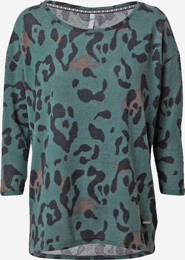 Hailys Shirt 'Mia' in brown / green mottled / black, Item view
