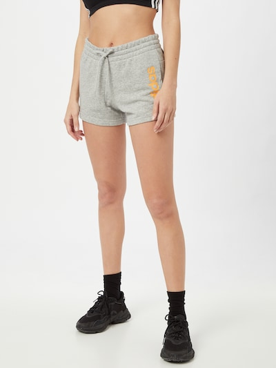 ADIDAS PERFORMANCE Sportovní kalhoty - šedý melír / mandarinkoná, Model/ka