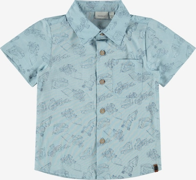 NAME IT Overhemd 'Dritte' in de kleur Smoky blue / Grijs, Productweergave