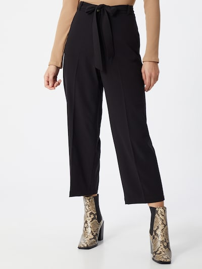 ESPRIT Trousers with creases in black, View model