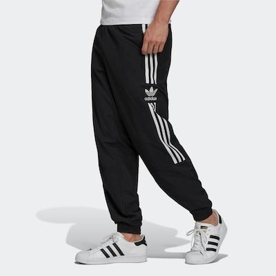 Pantaloni sport ADIDAS ORIGINALS pe negru / alb, Vizualizare model