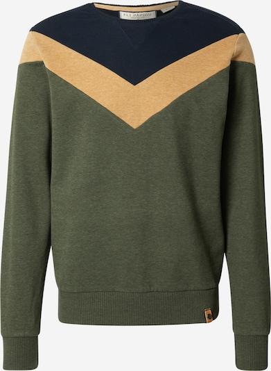 Fli Papigu Sweatshirt 'Der Bratan Is In Ordnung' in navy / safran / dunkelgrün, Produktansicht