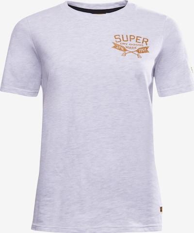 Superdry T-Shirt in gold / hellgrau, Produktansicht