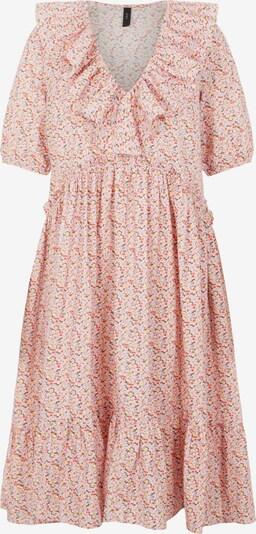 Y.A.S Kleid 'Ricca' in opal / hellgelb / dunkelorange / rosa / weiß, Produktansicht