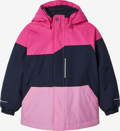 NAME IT Skijacke 'Snow 03' in dunkelblau / pink / hellpink, Produktansicht
