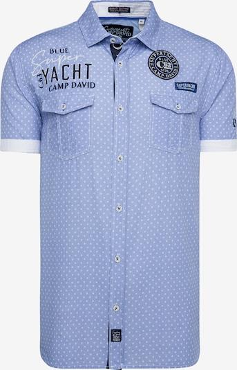CAMP DAVID Kurzarmhemd mit All Over Print und Artworks in hellblau, Produktansicht