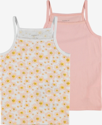 Apatiniai marškinėliai iš NAME IT , spalva - geltona / rožinė / balta, Prekių apžvalga