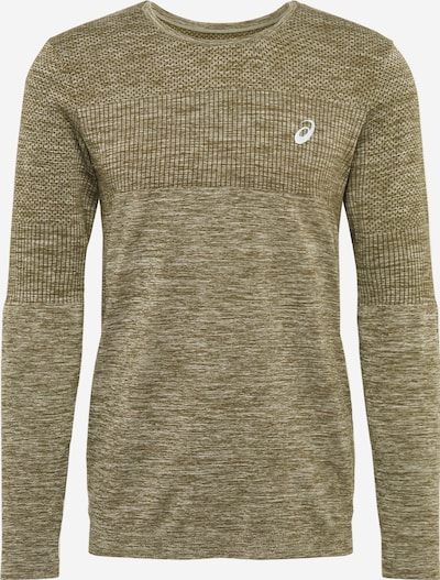 ASICS Sportsweatshirt in de kleur Olijfgroen, Productweergave