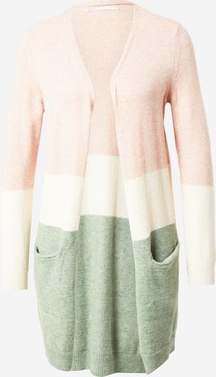 ONLY Pletena jopa 'QUEEN' | bež / oliva / svetlo roza barva, Prikaz izdelka
