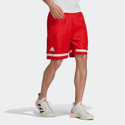 ADIDAS PERFORMANCE Shorts 'Club' in rot / weiß: Frontalansicht