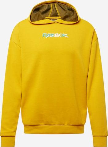 Reebok Sport Спортен блузон с качулка в жълто