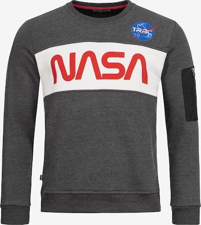 Redbridge Pullover McKinney NASA Print & Patches in grau: Frontalansicht