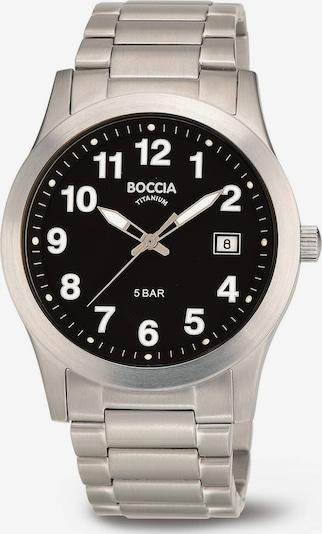 Boccia Titanium Uhr in schwarz / silber, Produktansicht