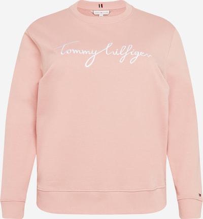 Tommy Hilfiger Curve Sweat-shirt en rose / blanc, Vue avec produit