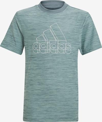 ADIDAS PERFORMANCE Functioneel shirt in de kleur Grijs / Lichtgroen / Wit, Productweergave