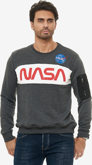 Redbridge Pullover McKinney NASA Print & Patches in grau, Produktansicht