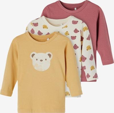 NAME IT T-Shirt 'Lissy' in beige / braun / senf / rosé, Produktansicht