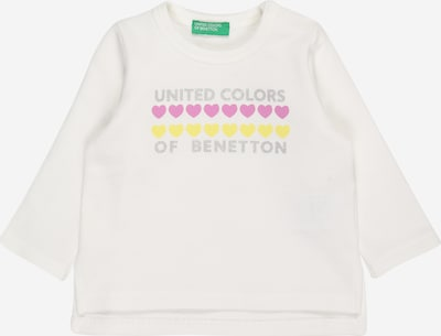 UNITED COLORS OF BENETTON Shirt in gelb / grau / pink / weiß, Produktansicht