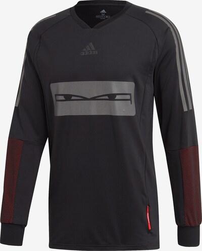 ADIDAS PERFORMANCE Funktionsshirt in grau / blutrot / schwarz: Frontalansicht