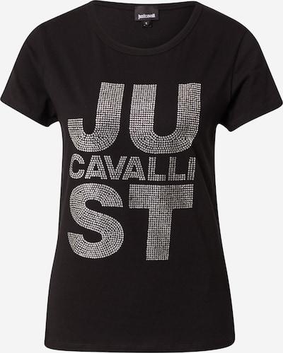 Tricou Just Cavalli pe negru / argintiu, Vizualizare produs