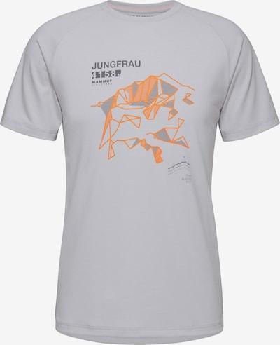 MAMMUT Funktionsshirt 'Mountain' in hellgrau / dunkelgrau / orange, Produktansicht