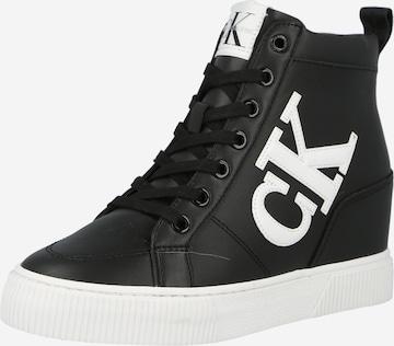 Calvin Klein High-Top Sneakers in Black