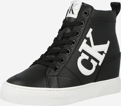 Sneaker înalt Calvin Klein pe negru / alb, Vizualizare produs