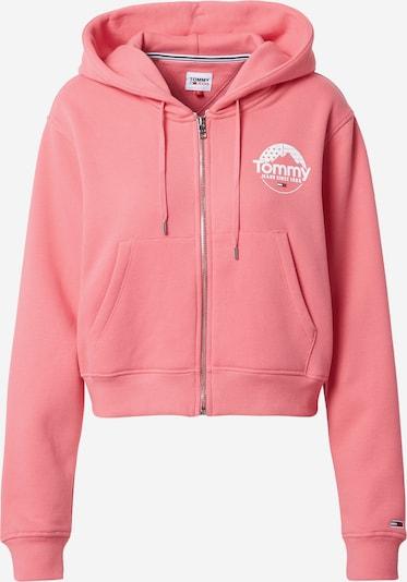 Tommy Jeans Veste de survêtement en rose / blanc, Vue avec produit