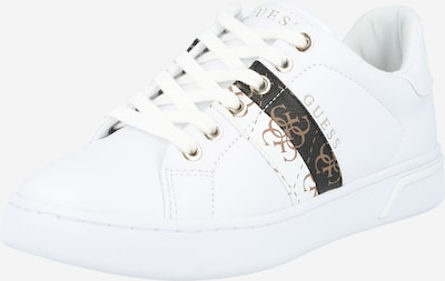 GUESS Sneakers low in brown / black / white, Item view